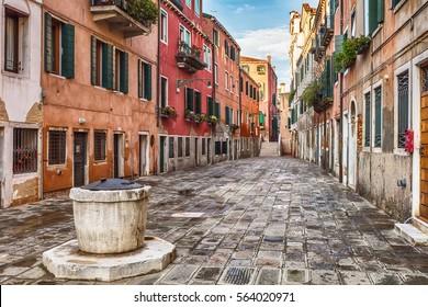 Venetian well on the street