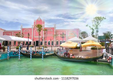 Venezia Hua Hin Thailand-May 11, 2014 : The Venezia Hua Hin, a shopping venue in Venice a tourist attraction in Thailand