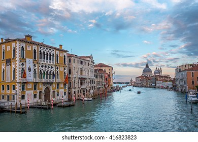 VENEZIA, ITALY - CIRCA MAY 2016: Famous Grand Canal