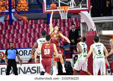 Venezia, Italy, October 15 2019 Andrea DE NICOLAO ofUmana Reyer Venezia , Italy,  during Umana Reyer Venezia vs Tofas Bursa Basketball EuroCup Championship