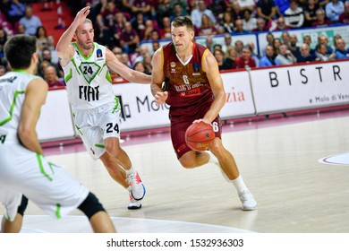 Venezia, Italy, October 15 2019 Michael BRAMOS of Umana Reyer Venezia , Italy,  during Umana Reyer Venezia vs Tofas Bursa Basketball EuroCup Championship