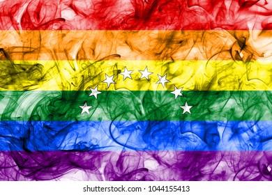 Venezuela gay smoke flag, LGBT Venezuela flag
