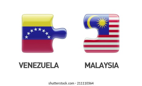 Venezuela Malaysia High Resolution Puzzle Concept