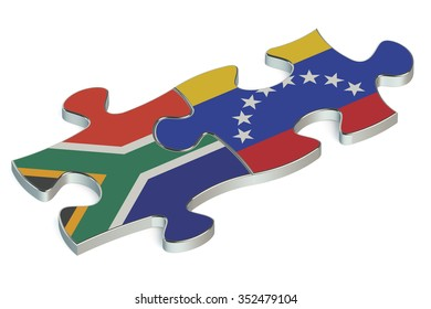 Venezuela and Republic of South Africa puzzles from flags