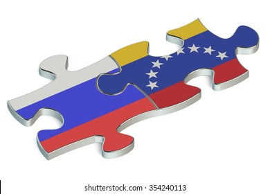 Venezuela and Russian Federation puzzles from flags