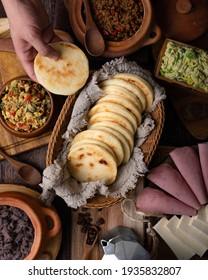 Venezuelan Arepa Traditional venezuelan food dish