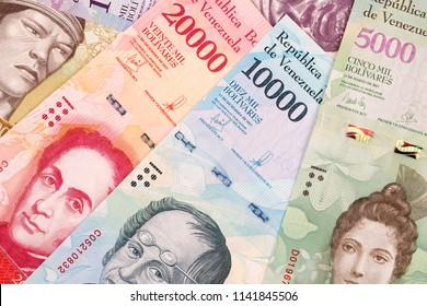 Venezuelan Bolivares, a business background with money from Venezuela
