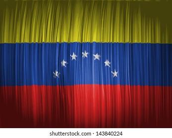 The Venezuelan flag  wavy curtain