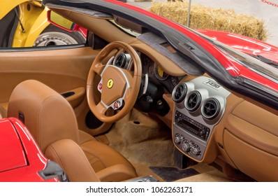 VENHUIZEN, THE NETHERLANDS – MARCH 2 , 2018 : Exclusive interior of a Ferrari F430 italian sports caron maart 2,2018 in Venhuizen , Holland
