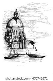 Venice architectural sketch