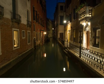 Venice architecture. Streets and channels of spring Venice