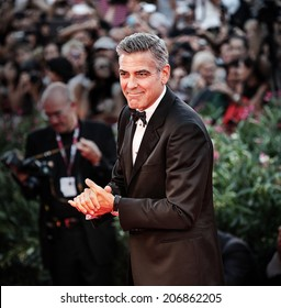 VENICE - AUGUST 28: George Clooney on the red carpet at the opening ceremony of the 70th Venice Film Festival on August 28, 2013 in Venice, Italy