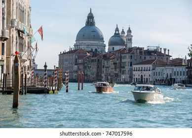 Venice in Autumn Venice, Italy - October 2017: Venice in a sunny autumn day