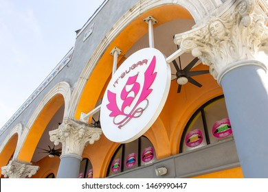 Venice Beach, California/United States - 06/29/19: A store front sign for the candy shop known as It'Sugar