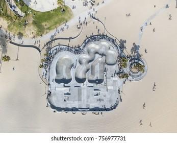 venice beach drone shots skate parks