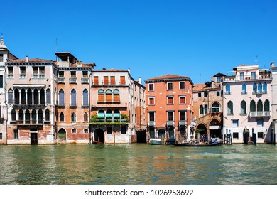Venice Buildings in Grand Canal, Italy.