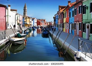 Venice, Burano island, Italy
