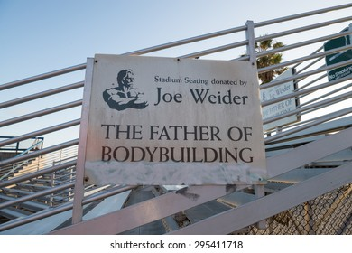 """VENICE, CA - MAY 28TH, 2015  """"Joe"""" Weider, the father of bodybuilding, was an entrepreneur who co-founded the International Federation of BodyBuilders. He was also the creator of the Mr. Olympia."""