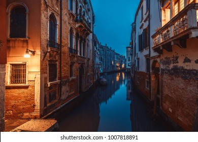 Venice canals in Italy