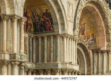 Venice church structures, artwork and statues abound in the historical city built on the waterways of the Venice Lagoon