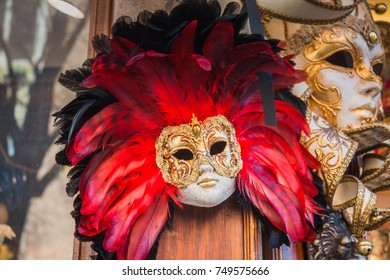 Venice City of Italy. Traditional Venetian Carnival Mask.