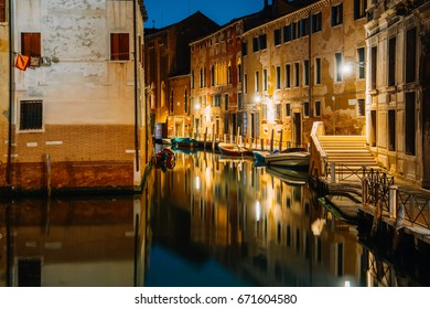 Venice city at summer night. Italy, Europe