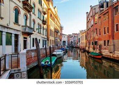 Venice classic small canal.