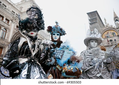 VENICE - FEBRUARY 24: The Carnival of Venice is an annual festival that starts around two weeks before Ash Wednesday and ends on Shrove Tuesday or Mardi Gras on February 24, 2009 in Venice, Italy.