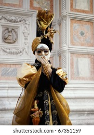 VENICE - FEBRUARY 8: The Carnival of Venice is an annual festival starting around two weeks before Ash Wednesday and ends on Shrove Tuesday or Mardi Gras in February 8, 2010 in Venice, Italy.