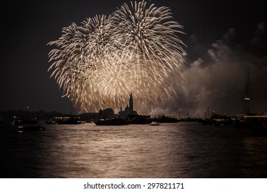 Venice fireworks during redeemer party