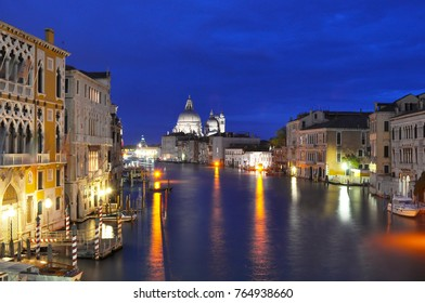 Venice Grand canal at night, Italy