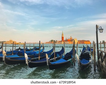 Venice, Grand canal on sunset