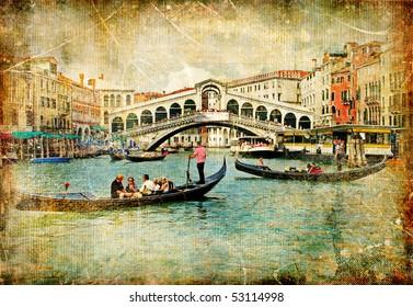 Venice - great italian landmarks vintage series