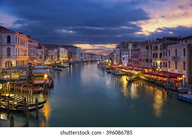 Venice. Image of Grand Canal in Venice during sunset.