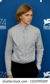 Venice, Italy. 01 September, 2017.  Charlie Plummer attend the photocall of the movie 'Lean on Pete' presented in competition at the 74th Venice Film Festival.