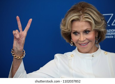 Venice, Italy. 01 September, 2017.  Jane Fonda attends the 'Our Souls At Night' photocall  at the 74th Venice Film Festival.