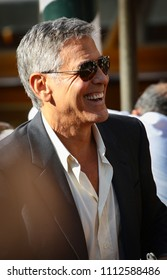 Venice, Italy. 01 September, 2017. George Clooney leave from the Hotel Excelsior