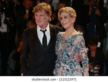 Venice, Italy. 01 September, 2017.  Jane Fonda and Robert Redford  walk the red carpet ahead of the 'Our Souls At Night' screening during the 74th Venice Film Festival