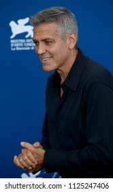 Venice, Italy. 02 September, 2017.  George Clooney attend the photocall of the movie 'Suburbicon' presented out of competition at the 74th Venice Film Festival