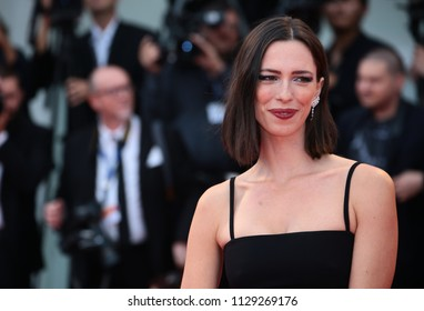 Venice, Italy. 02 September, 2017. Rebecca Hall walks the red carpet ahead of the 'Suburbicon' screening during the 74th Venice Film Festival