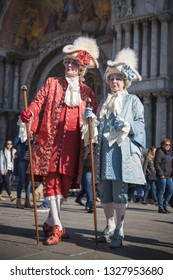 Venice (Italy) - 02/27/2019 - Costumes and masks for the Venice carnival 2019