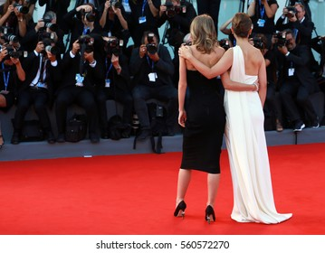 Venice, Italy. 03th September, 2016. Natalie Portman, Lily-Rose Depp attends a premiere for 'Planetarium' during the 73nd Venice Film Festival.