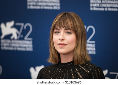 Venice, Italy - 04 September 2015: Actress Dakota Johnson attends a photocall for 'Black Mass' during the 72nd Venice Film Festival