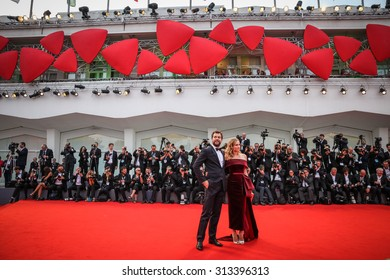 Venice, Italy - 04 September 2015: Joshua Jackson and Diane Kruger attend a premiere for 'Black Mass' during the 72nd Venice Film Festival