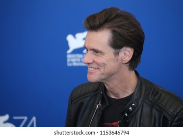 Venice, Italy. 05 September, 2017. Jim Carrey attends the photocall of the movie 'Jim & Andy: The Great Beyond - The Story Of Jim Carrey &Andy Kaufman With A Very Special, Contractually Obligated Ment