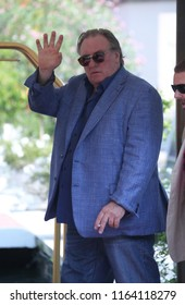 Venice, Italy. 05 September, 2017. Gérard Depardieu leave from the Hotel Excelsior
