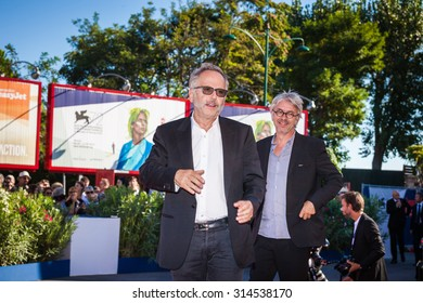 Venice, Italy - 06 September 2015: Actor Fabrice Luchini and director Christian Vincent attend a premiere for 'L'Hermine' during the 72nd Venice Film Festival