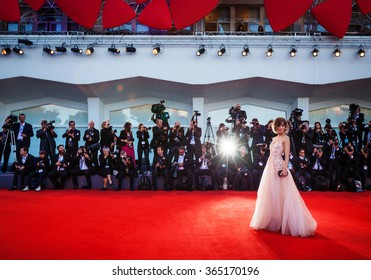 Venice, Italy - 06 September 2015: Gabriella Pession attends a premiere for 'A Bigger Splash' during the 72nd Venice Film Festival