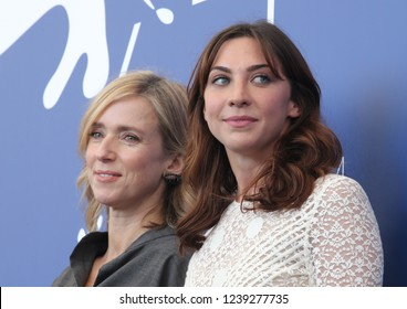 Venice, Italy. 08 September, 2017. Lea Drucker  and Mathilde Auneveux attends the photocall of the movie 'Jusqu'à la Garde' presented in competition at the 74th Venice Film Festival