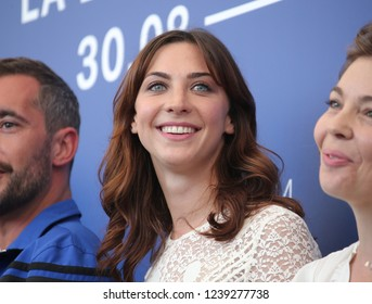 Venice, Italy. 08 September, 2017.  Mathilde Auneveux attends the photocall of the movie 'Jusqu'à la Garde' presented in competition at the 74th Venice Film Festival